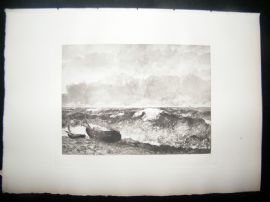 Boussod & Valadon after Courbert 1885 Photogravure. The Wave